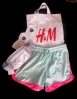 H&M - a fave store. Training shorts, jogging bag, mud packs